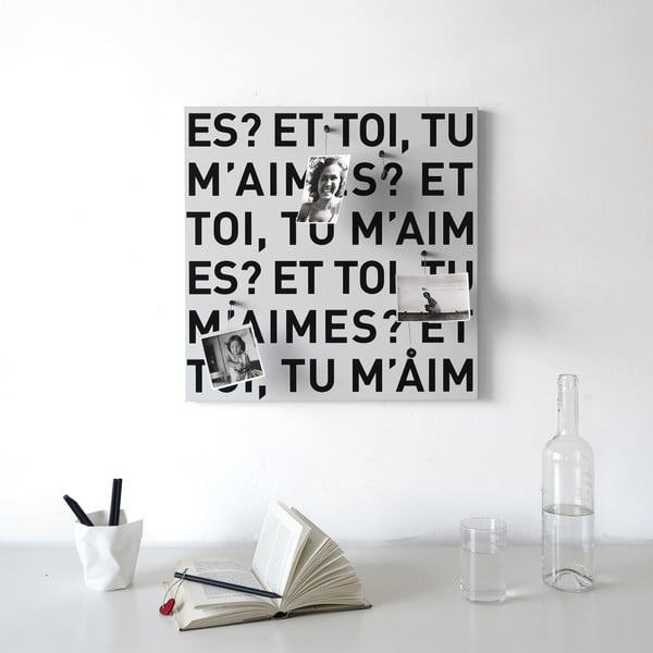 Magnetyczna tablica dESIGNoBJECT.it E Toi,50x50cm