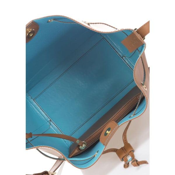 Skórzana torebka Krole Klara, koniakowa