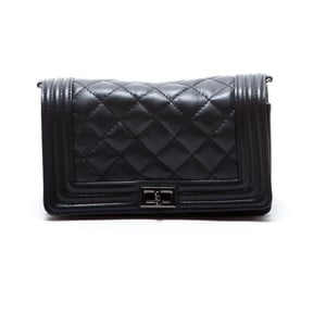 Skórzana torebka Fiola, czarna