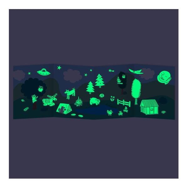Fluorescencyjne naklejki Nature, 100 szt.