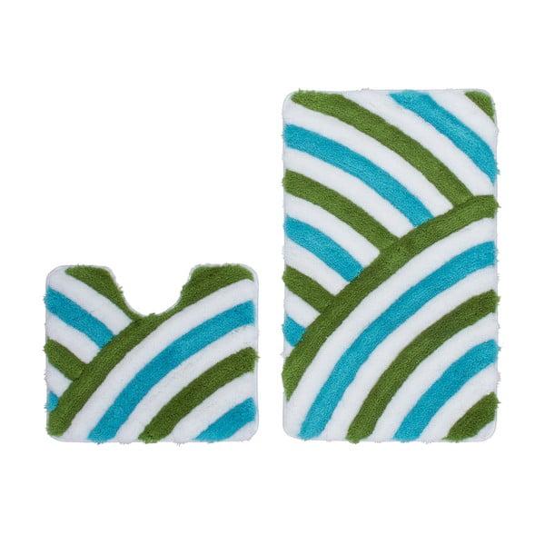 Zestaw 2 dywaników łazienkowych z wcięciem Lobby Aqua