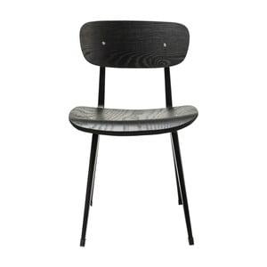 Czarne krzesło z drewna jesionowego Kare Design Oslo