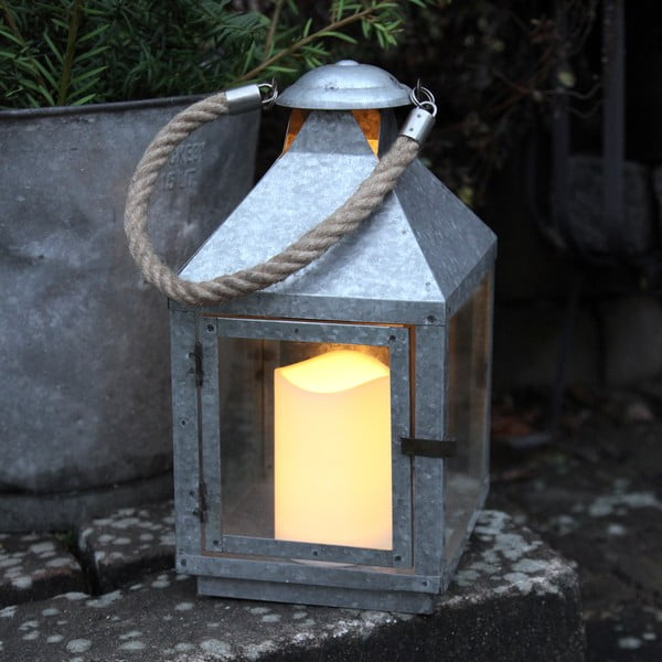 Lampion LED Amy, ocynkowany