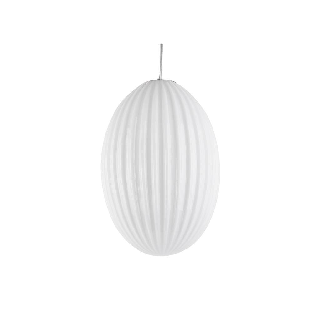 Biała szklana lampa wisząca Leitmotiv Smart,ø30cm