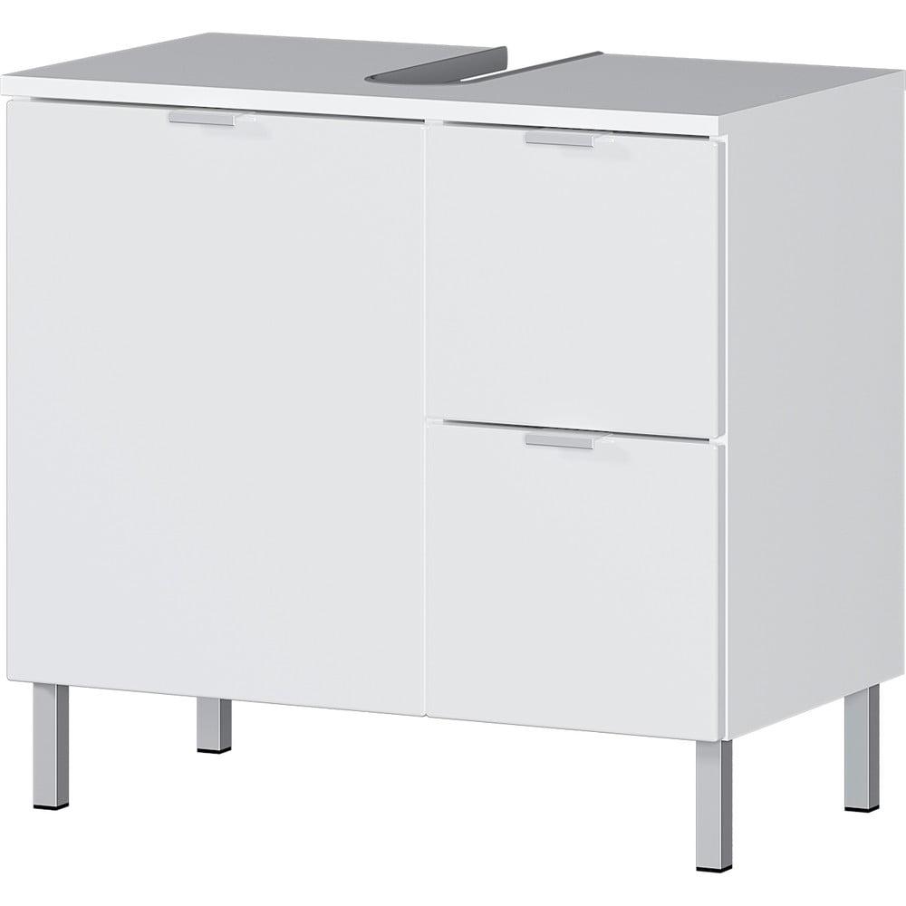 Biała szafka pod umywalkę Germania Mauresa, szer. 60 cm