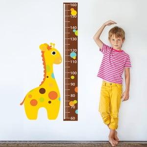 Naklejka dekoracyjna na ścianę Centymetr Żyrafa
