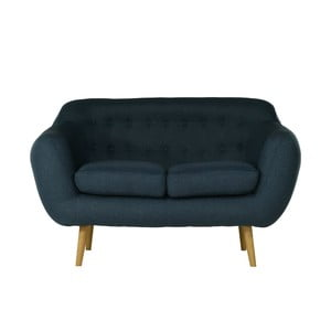 Granatowa   sofa dwuosobowa Wintech Indigo Sawana