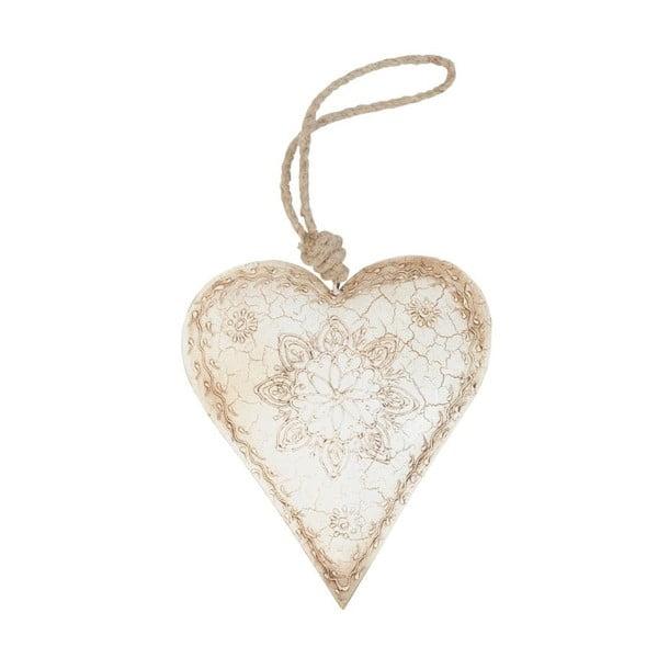 Wiszące serce dekoracyjne Antic Line Heart Angel