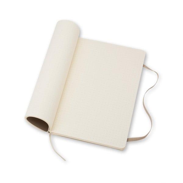 Beżowy notatnik gładki Moleskine Soft, mały