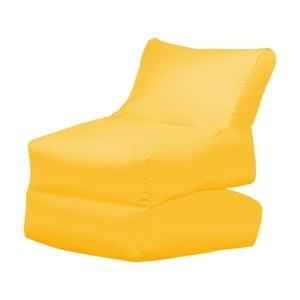 Żółty leżak składany Sit and Chill Lato
