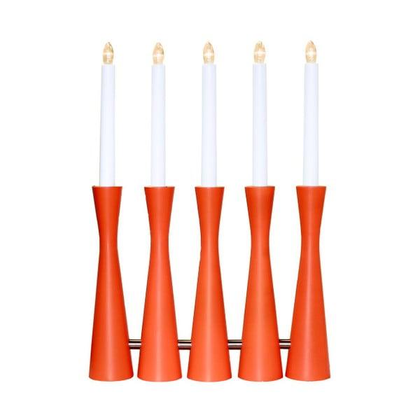 Pomarańczowy świecznik LED Midja