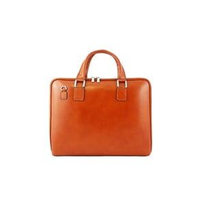 Skórzana torebka unisex Manola Cognac