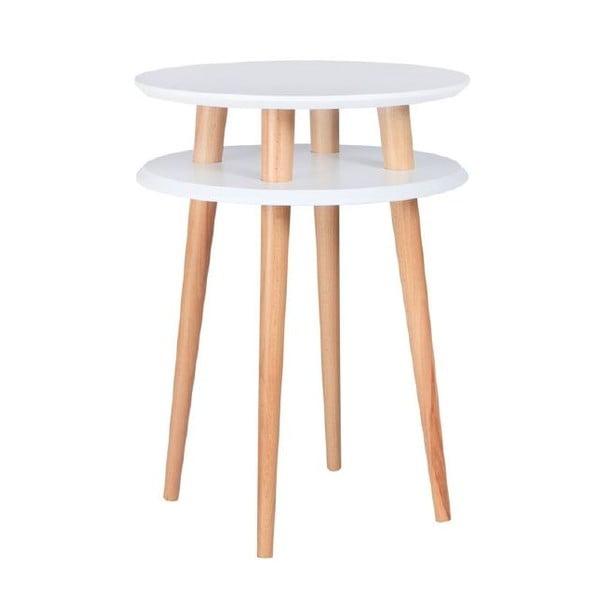 Biały stolik Ragaba UFO, Ø 45 cm