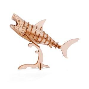 Puzzle 3D z ogorzałki wełnistej Kikkerland Shark