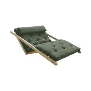 Sofa rozkładana z zielonym pokryciem Karup Design Figo Natural/Olive Green