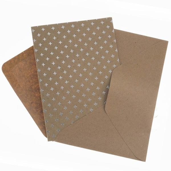 Komplet 6 kartek na życzenia Metallic