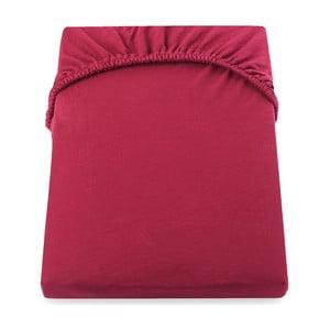 Czerwone prześcieradło elastyczne DecoKing Nephrite, 220–220cm
