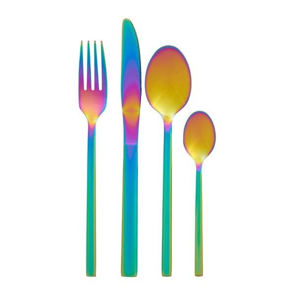 Zestaw sztućców z efektem tęczy 16-częściowy Premier Housewares Rainbow