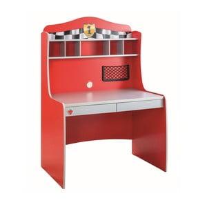 Czerwone biurko Race Cup Desk With Unit