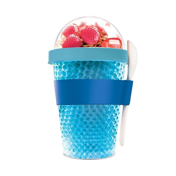 Kubek termiczny na jogurt Chill Yo 2 Go, niebieski