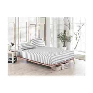 Elastyczne prześcieradło jednoosobowe i poszewka na poduszkę Clementino Gris Dulo, 100x200 cm