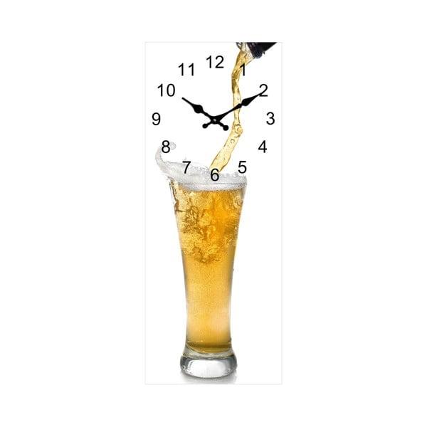 Szklany zegar Szklanka, 20x50 cm