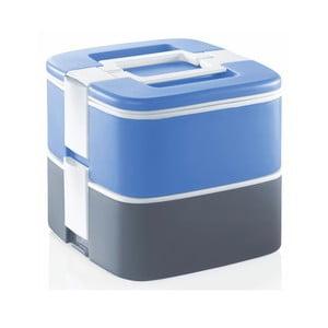 Szaro-niebieski termoreaktywny pojemnik na obiad Enjoy, 1,5 l