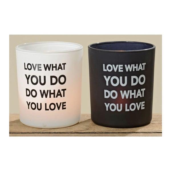 Zestaw 2 świeczników Love What You Do
