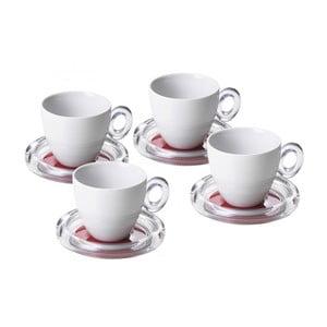 Komplet 4 filiżanek na herbatę, czerwone