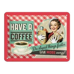 Zestaw 3 tablic blaszanych Coffee, 15x20 cm