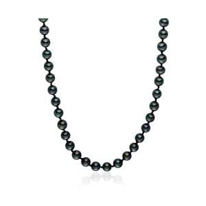 Czarny   perłowy naszyjnik Pearls of London Mystic, długość 42 cm