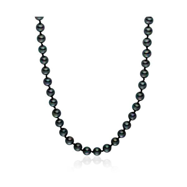 Czarny   perłowy naszyjnik Pearls of London Mystic, długość 50 cm