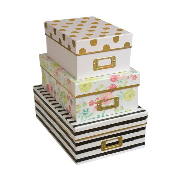 Zestaw 3 pudełek Lovely Blooms