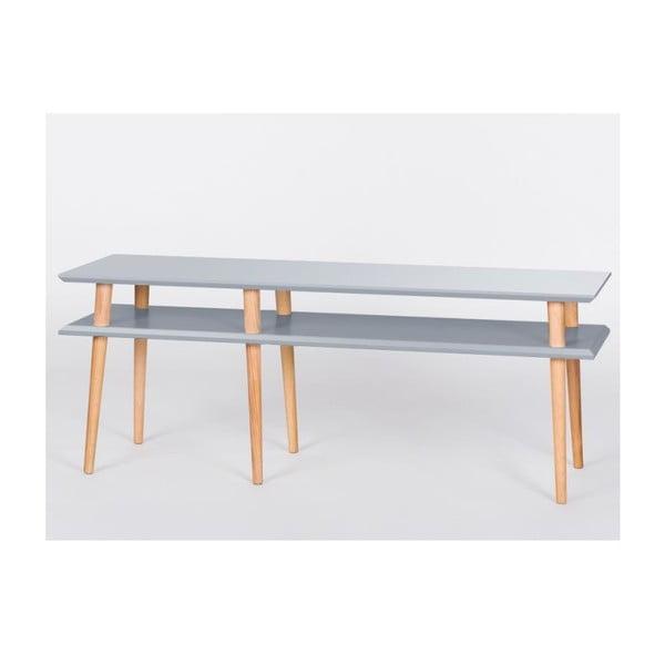 Ciemnoszary stolik Ragaba Mugo, dł. 159 cm