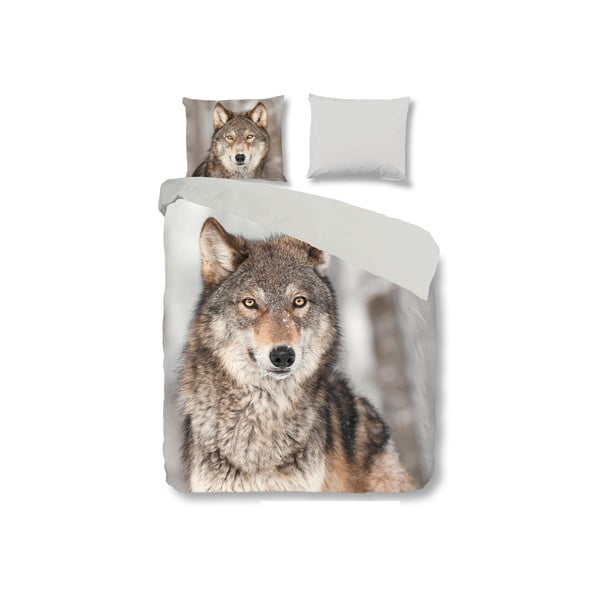 Pościel Wolf, 200x200 cm, zapięcie na zakładkę