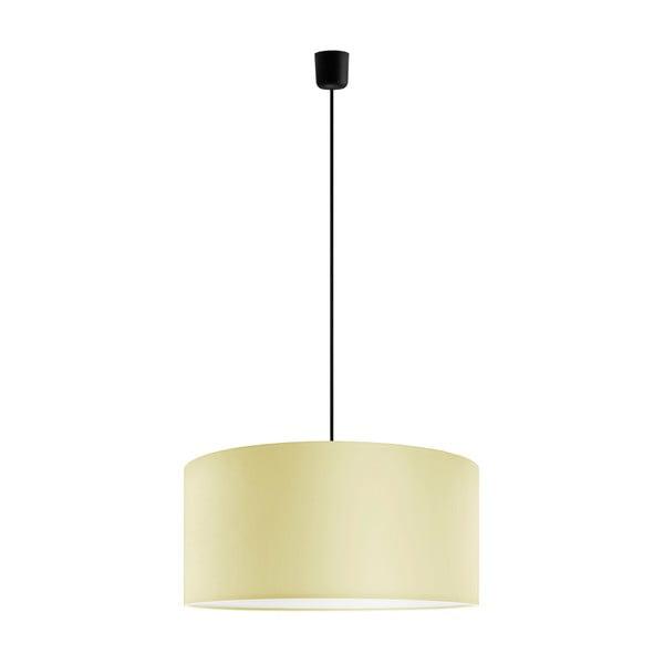 Czarno-żółta lampa wisząca Bulb Attack Tres, ⌀ 50 cm