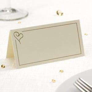 Zestaw 50 kremowych etykiet imiennych Neviti Simply Love