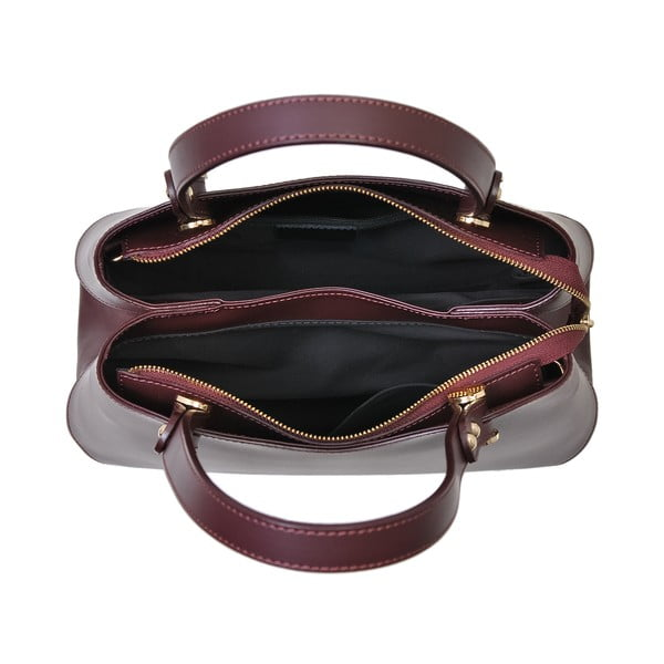 Bordowa torebka skórzana Andrea Cardone Sante