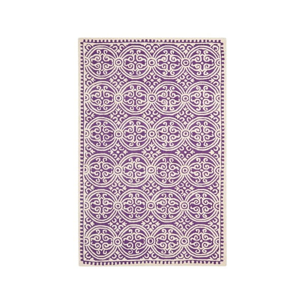Dywan wełniany Marina 182x274 cm, fioletowy