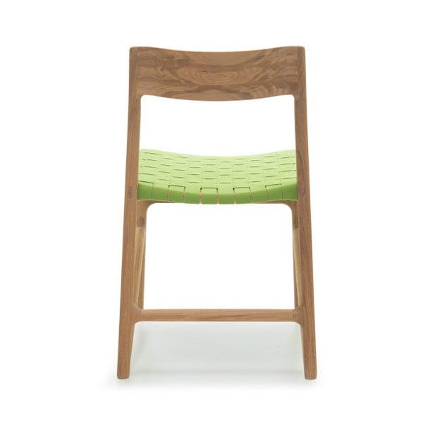 Krzesło Fawn Natural Gazzda, zielone