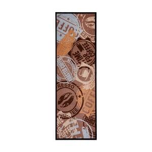 Brązowy dywan do kuchni HanseHomeCoffeeStamp, 50x150cm