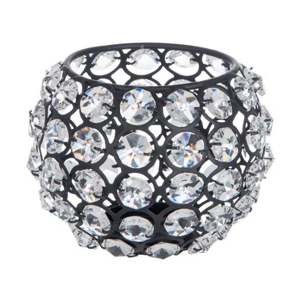 Świecznik Glass Ball Gliter, 11x11x11 cm