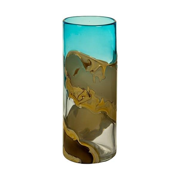 Wazon kryształowy Santiago Pons Ocean, wys. 30 cm