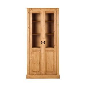 Naturalna 2-drzwiowa witryna z drewna sosnowego Støraa Tommy
