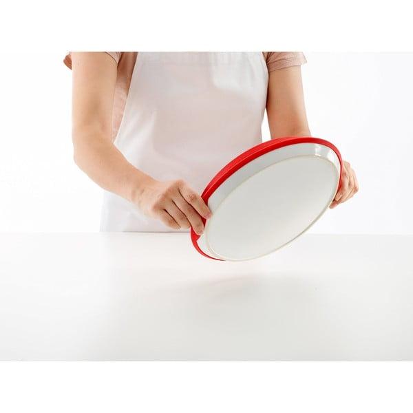 Forma do tarty tatin z ceramicznym talerzem, czerwona