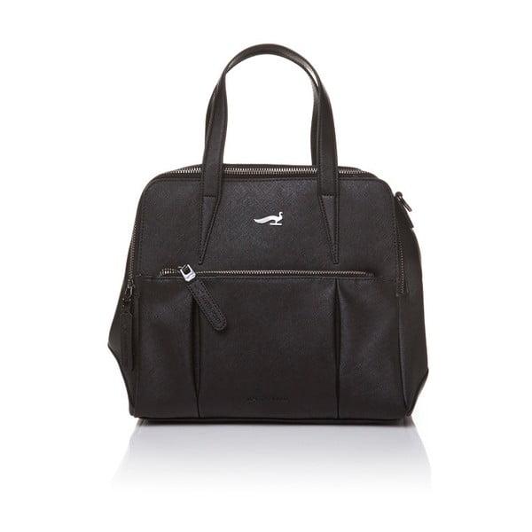 Skórzana torebka z długim i krótkim paskiem Marta Ponti Strada, czarna