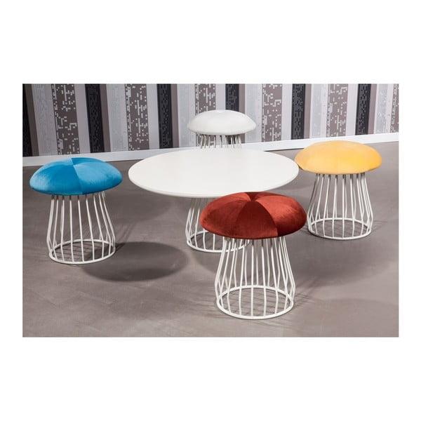 Stolik kawowy z krzesłami Mushroom