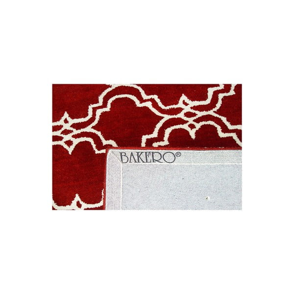 Czerwony dywan wełniany Bakero Riviera, 183x122cm