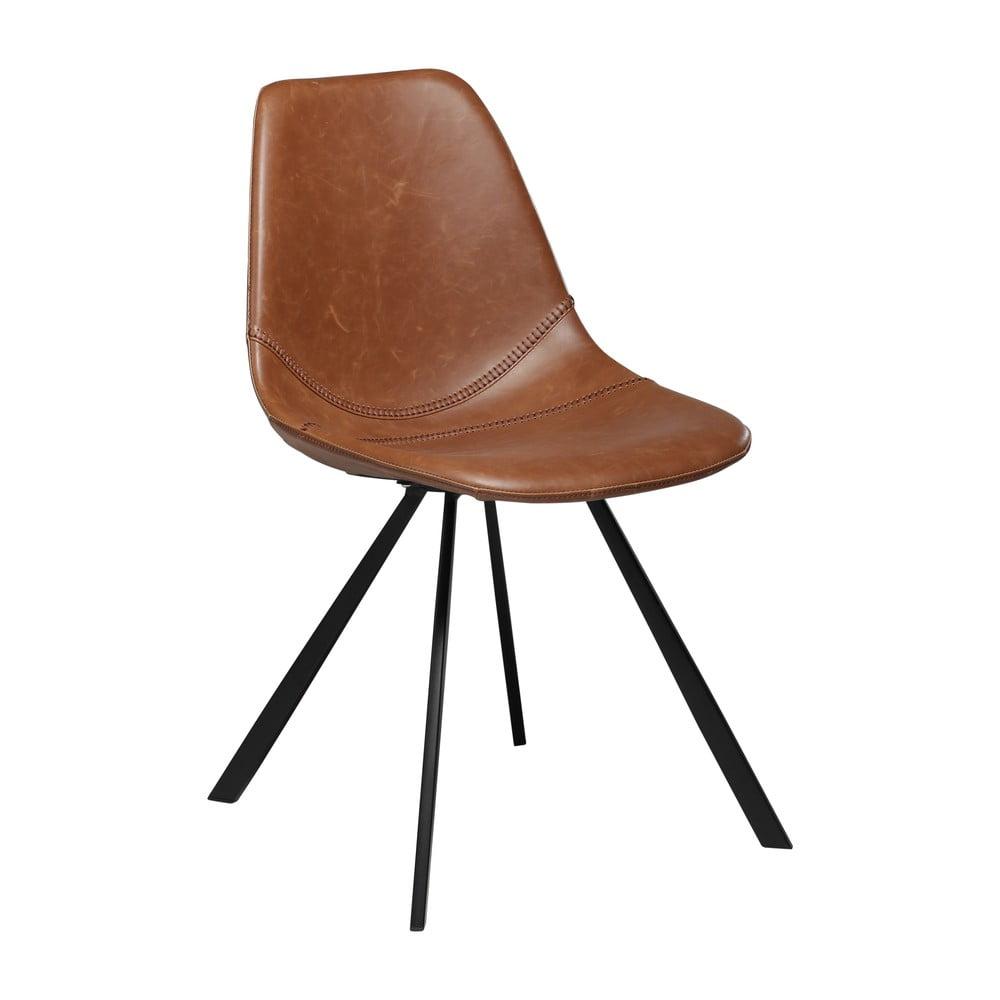 Brązowe krzesło ze skóry ekologicznej DAN–FORM Denmark Pitch