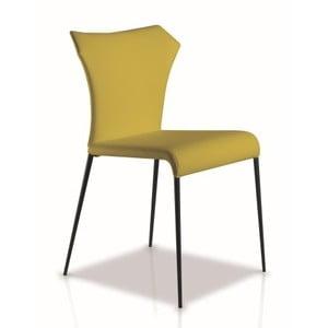 Limetkowe krzesło Ángel Cerdá Isabel